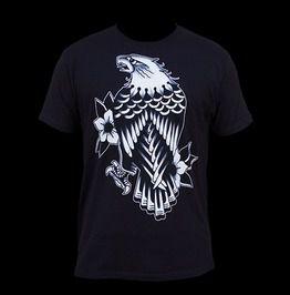 Men's Eagle Rain Tattoo T Shirt