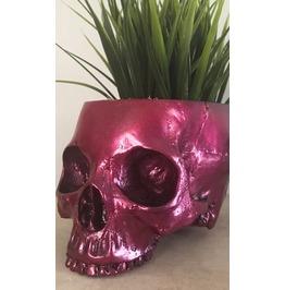 Pink Skull Planter