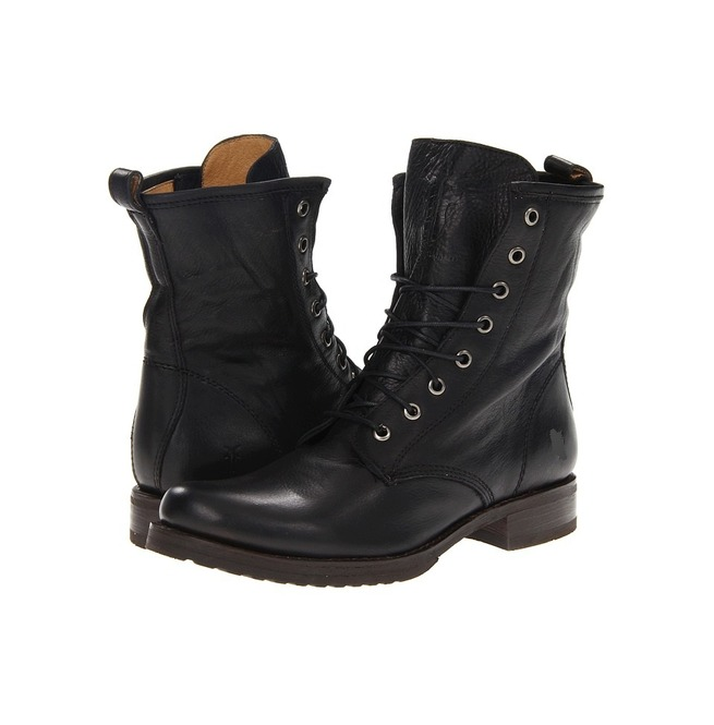 Handmade Men Black Combat Boots