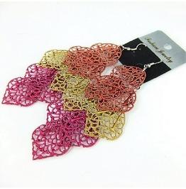 Basketball Wives Inspired Multicolor Boho Leaf Chandelier Dangle Earrings