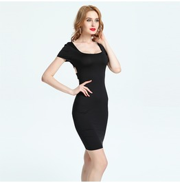 Cross Opened Back Bodycon Dress