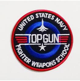 Circle Of Top Gun Iron On Patch.