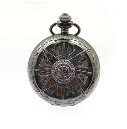 Vintage Punk Magic Compass Hollow Pocket Watch With Necklace,Unisex Gift