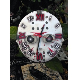 Friday The 13th Jason Voorhees Hockey Mask Wall Clock.