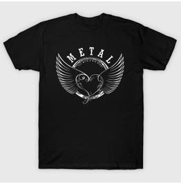 Metal Heart Men's T Shirt