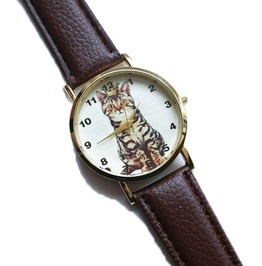 Unisex Vintage Princess Cat Watch