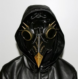 Black Pu Leather Plague Bird Mask Nose Retor Steampunk Gothic Mask
