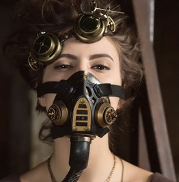 Gold Metallic Resin Gothic Steampunk Respirator Gas Mask