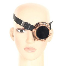 Steampunk Vintage Retro Gothic Single Right Eye Welding Goggles