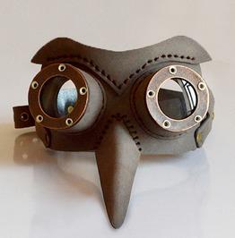 Steampunk Men Women Bird Beak Brown Eye Mask