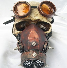 Steampunk Retro Goggles And Gas Mask Anti Fog Haze Mask