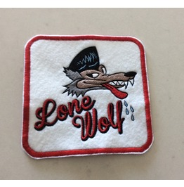 Lone Wolf Embroidered Rockabilly Patch Iron/Sew On