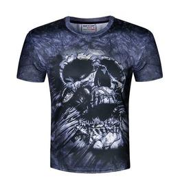 3 D Skull Print Men's T Shirt