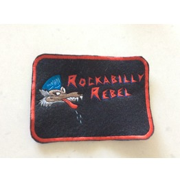 Rockabilly Rebel Embroidered Patch Iron/Sew On