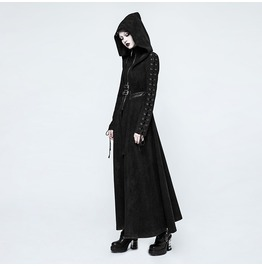 Punk Rave Women's Witch Hooded Maxi Coat Y780