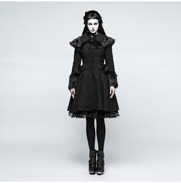 Punk Rave Women's Lolita Pockets Woolen Overcoat Ly064