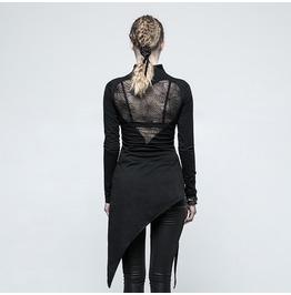 Punk Rave Women's Punk High Collar Irregular Backless Knitted Dress T479