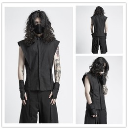 Punk Men's Stylish Sleeveless Tee Shirt