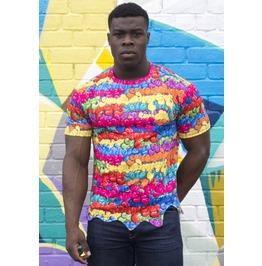 Drip T Shirt Offend My Eyes Wavy Hem Mens Extra Small, Small, Medium, Large