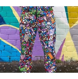 Trippy Joggers Offend My Eyes Bottoms Pill Weed Drugs Xs, S, L, 2 Xl