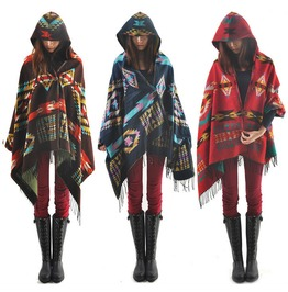 Hooded Poncho Capucha Wh393