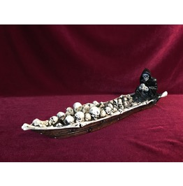 Grim Reaper Boatman Incense Burner