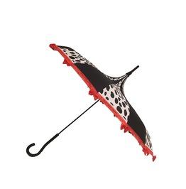Dalmatian Lover Fairy Tale Themed Umbrella / Parasol Red,Black,White, Bows