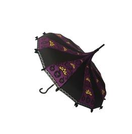 Apple Queen Fairy Tale Themed Umbrella / Parasol Purple & Black W/Lace,Bows