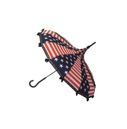 4 Of July / Stars & Stripes Print Umbrella/Parasol Pagoda Shaped