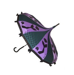 Wants Legs Fairy Tale Themed Umbrella / Parasol Purple Black And Green