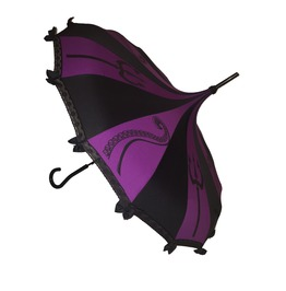 Sea Queen Fairy Tale Themed Umbrella/Parasol Purple And Black Pagoda Shaped