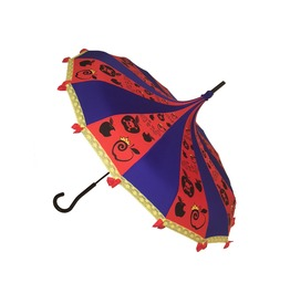 Apple Princess Fairy Tale Themed Umbrella / Parasol Red, Blue, & Gold