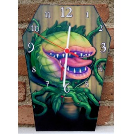 Handmade Clock. Wooden Coffin Shaped Wall Clock Audrey 2 Inspiration.