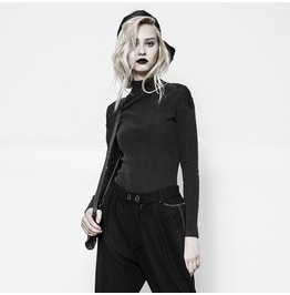 Punk Rave Women's Punk Stand Collar Embroidered Knitted Sweater Opt116