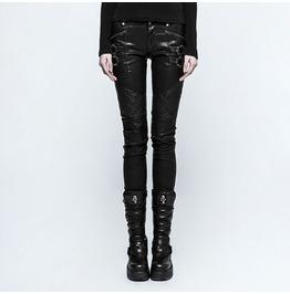 Punk Rave Women's Faux Leather Skinny Pants K297