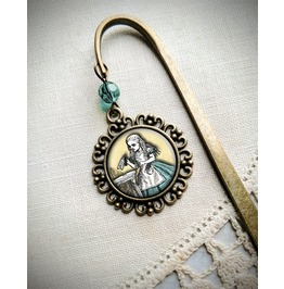 Alice In Wonderland Brass Bookmark