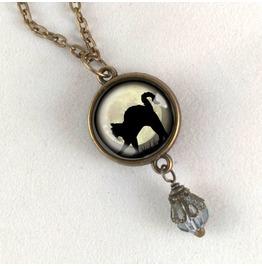 Black Cat Pendant Necklace