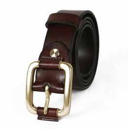 Men's Vintage Wide Buckle Cowhide Reversible Belt