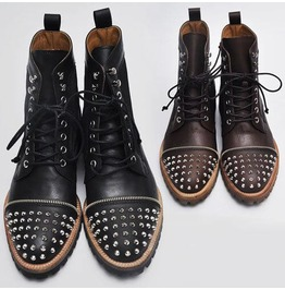 Runway Monster Kipskin Stud Boots