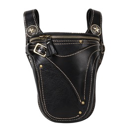 Men's Punk Cowhide Messenger Shoulder Satchel Waist Bag Pack