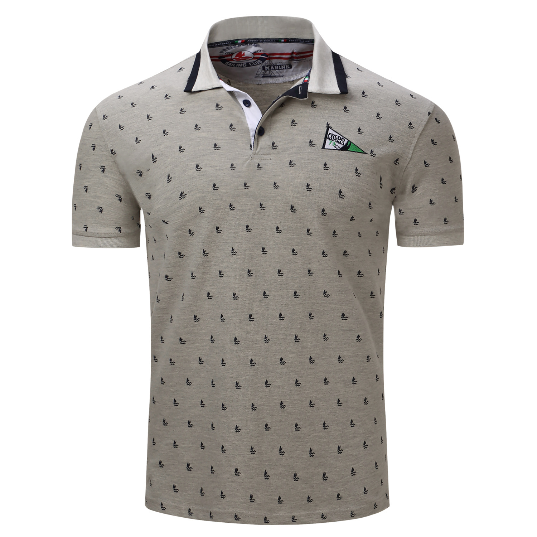 Mens Sailing Printed Polo T Shirt Rebelsmarket