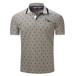 Men's Sailing Printed Polo T Shirt