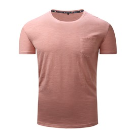 Men's Classic O Neck Slim Fitted Pocket T Shirt
