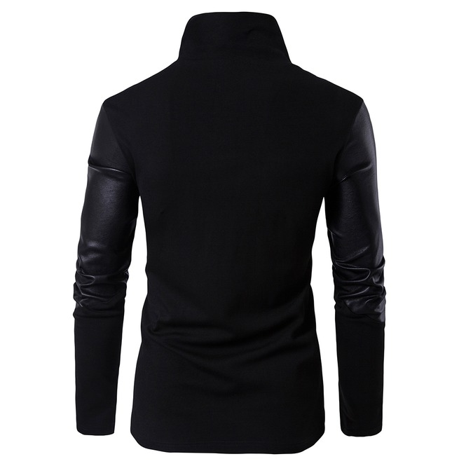 rebelsmarket_mens_stand_collar_faux_leather_sleeve_slim_fitted_knitted_jacket_jackets_4.jpg