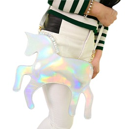 Pu Leather Punk Harajuku Unicorn Candy Colors Crossbody Bag