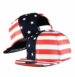 U.S.A Flag Hip Hop Adjustable Baseball Cap,Unisex Snapback Flat Hat