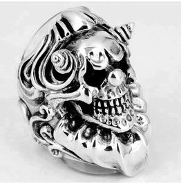 925 Sterling Silver Huge Sinister Evil Clown Jester Ring Size 11 Us