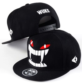 Hip Hop Punk Baseball Caps,Demon Fangs Snapback Flat Hat