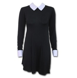 Peter Pan Collar Baby Doll Ls Dress