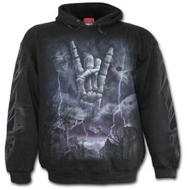 Gothic Tattoo Rock Eternal Black Hoodie